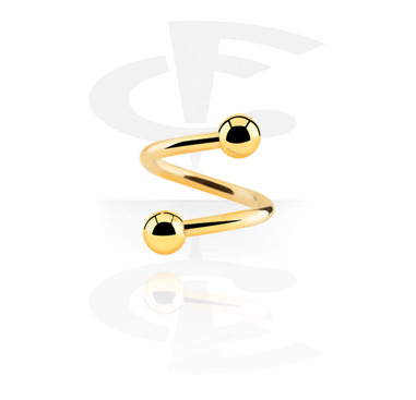 Spiraalikorut, Spiral, Gold Plated Surgical Steel 316L