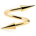 Spirali, Spirale con coni lunghi, Acciaio chirurgico 316L con placcatura in oro