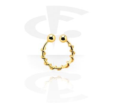 Falešné piercingové šperky, Fake Nose Ring, Gold Plated