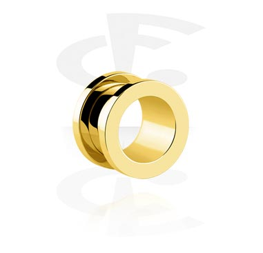 Tunnels & Plugs, Tunnel, Gold Plated Surgical Steel 316L