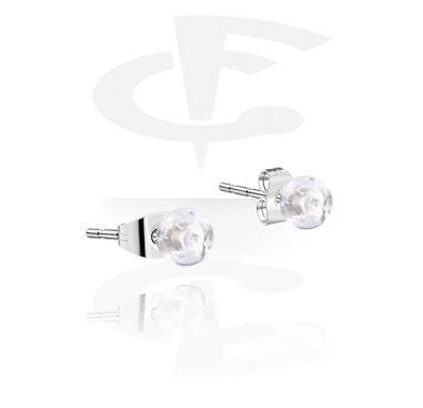 Korvakorut, Ear Studs, Surgical Steel 316L, Acrylic