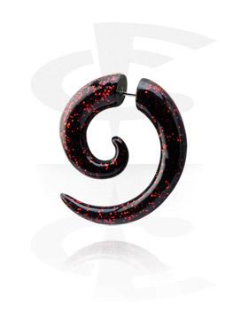 Fake Piercings, Falsa espiral con brillantina, Acrílico