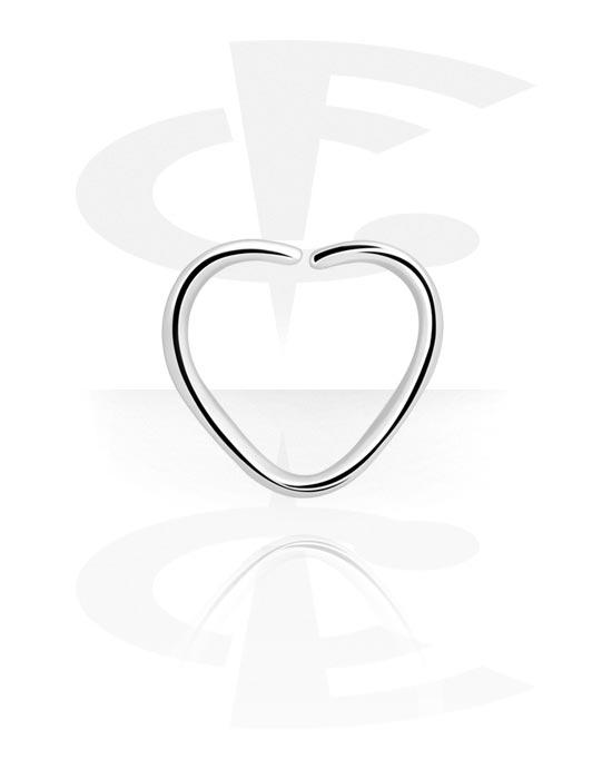 Piercing Ringe, Herzförmiger Continous Ring, Chirurgenstahl 316L