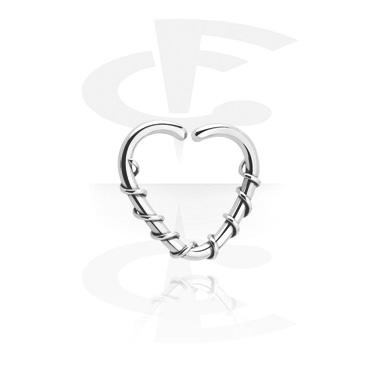 Anneau continu en forme de coeur
