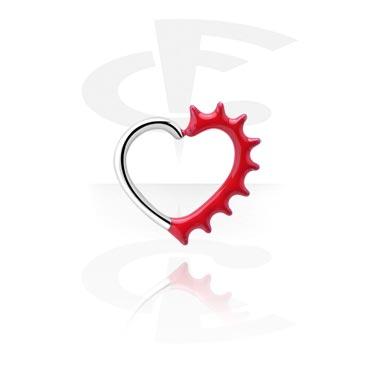 Anneau continu noir en forme de cœur
