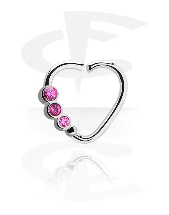 Renkaat, Heart-shaped Continuous Ring, Kirurginteräs 316L