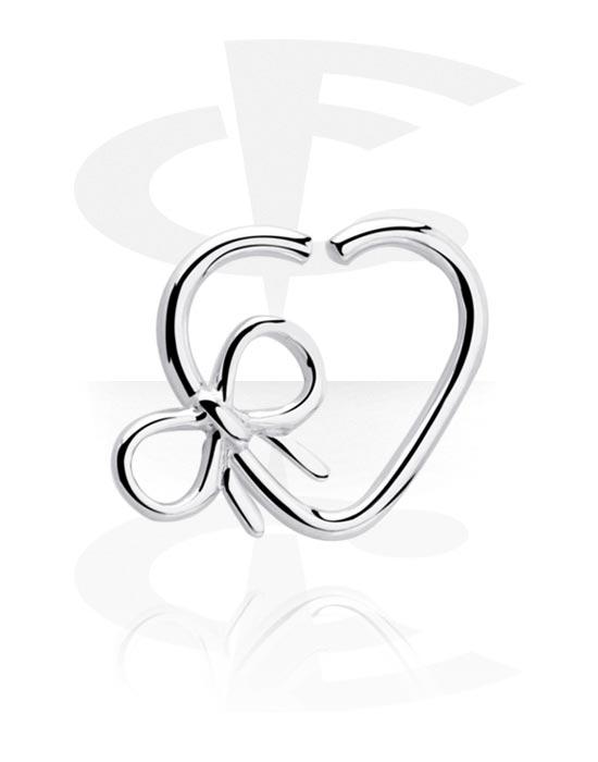 Piercing Ringe, Herzförmiger Continuous Ring, Chirurgenstahl 316L