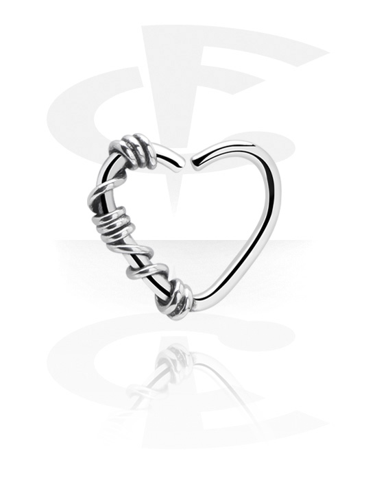 Piercing Rings, Heart-shaped Continuous Ring