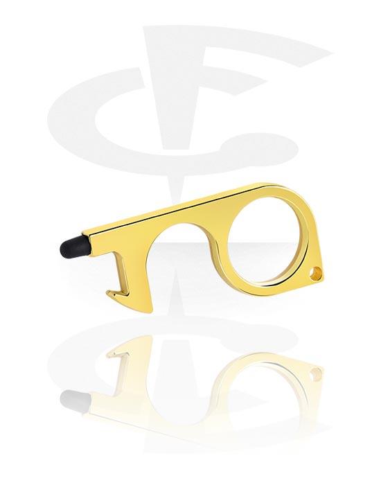 Alati i pribor za piercing, Non-contact Door Opener, Pozlaćeni mesing