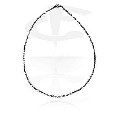 Черное модное ожерелье