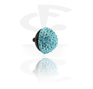 Attachment with jeweled stones for X-Changers<br/>[Surgical Steel 316L]