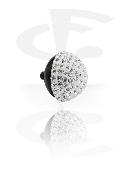 X-Changers, Opzetstuk met crystal stones for X-Changer, Zwart chirurgisch staal 316L