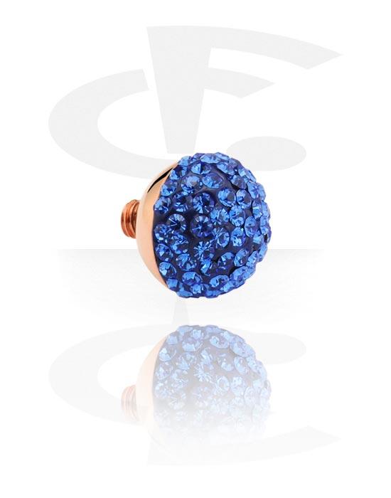 X-Changers, Attachment with jeweled stones for X-Changers<br/>[Surgical Steel 316L], Stal chirurgiczna powlekana różowym złotem 316L