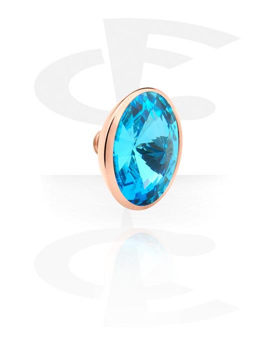X-Changers, Attachment z crystal stone for X-Changer, Stal chirurgiczna powlekana różowym złotem 316L