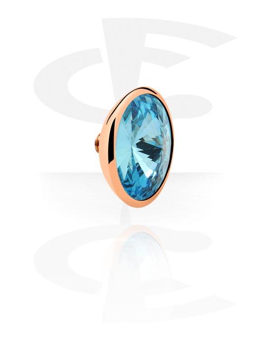 X-Changers, Attachment with jeweled stone for X-Changers<br/>[Surgical Steel 316L], Stal chirurgiczna powlekana różowym złotem 316L