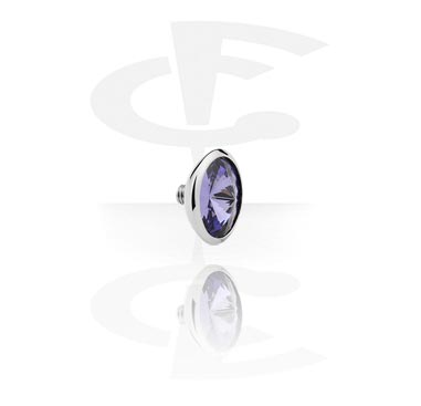Attachment with jeweled stone for X-Changers<br/>[Surgical Steel 316L]