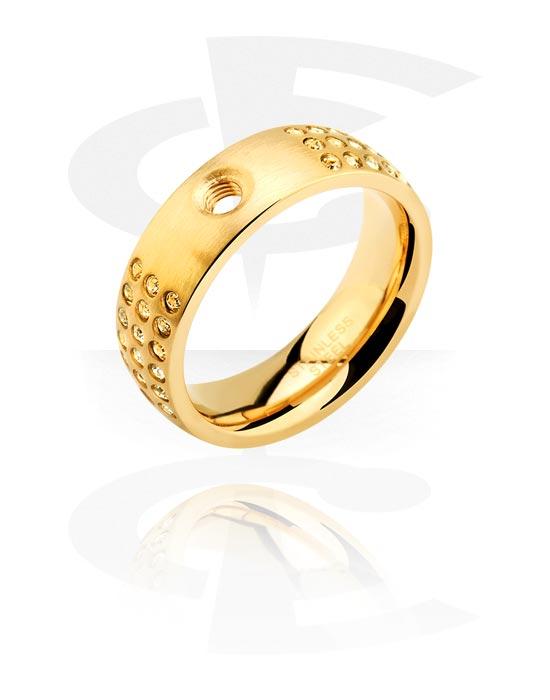 X-Changers, Ring für X-Changers, Vergoldeter Chirurgenstahl 316L
