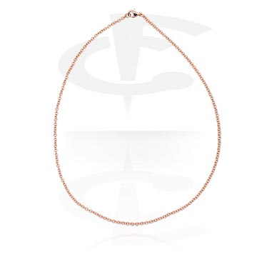 Naszyjniki, Necklace, Rose Gold Plated Steel