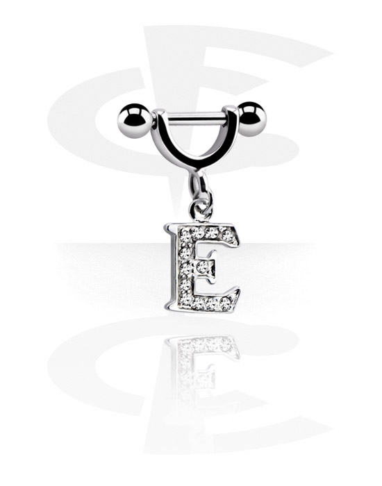 Helix / Tragus, Helix Piercing with charm, Surgical Steel 316L, Plated Brass