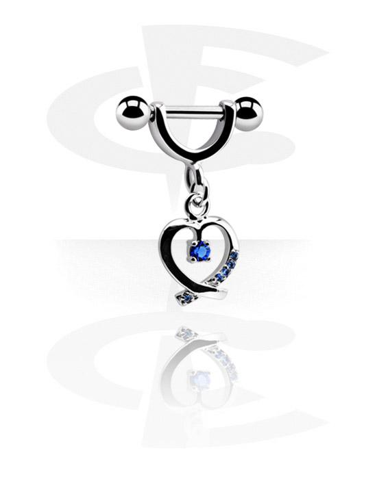 Helix / Tragus, Helix piercing z charm, Stal chirurgiczna 316L, Powlekany mosiądz