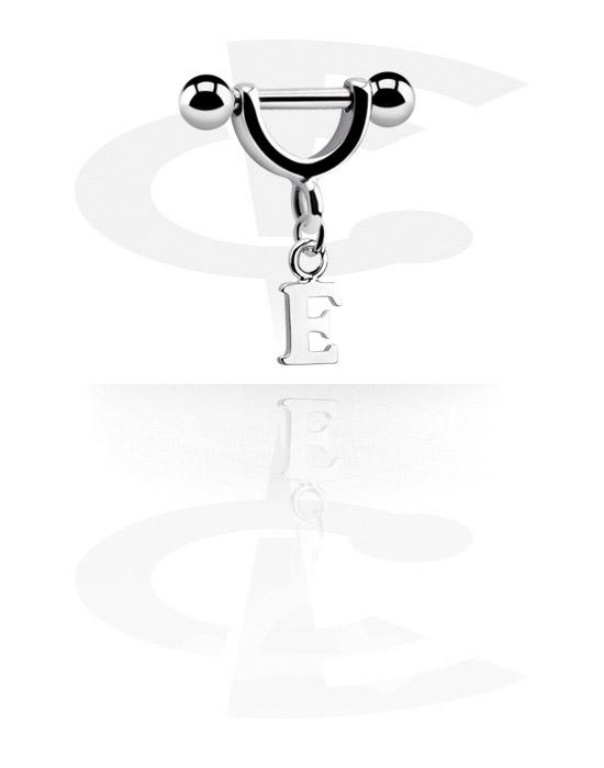 Helix / Tragus, Helix piercing met bedel, Chirurgisch staal 316L, Belegde messing