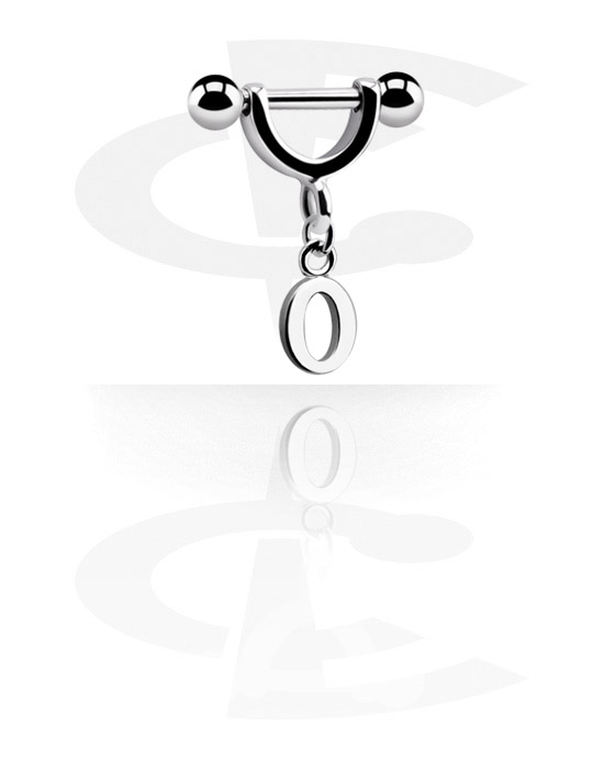 Helix / Tragus, Helix Piercing mit Anhänger, Chirurgenstahl 316L, Plattiertes Messing