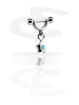 Helix / Tragus, Helix Shield avec Charm, Acier chirurgical 316L