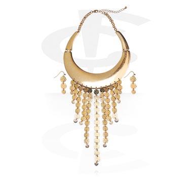 Smyckeset med halsband och örhängen.