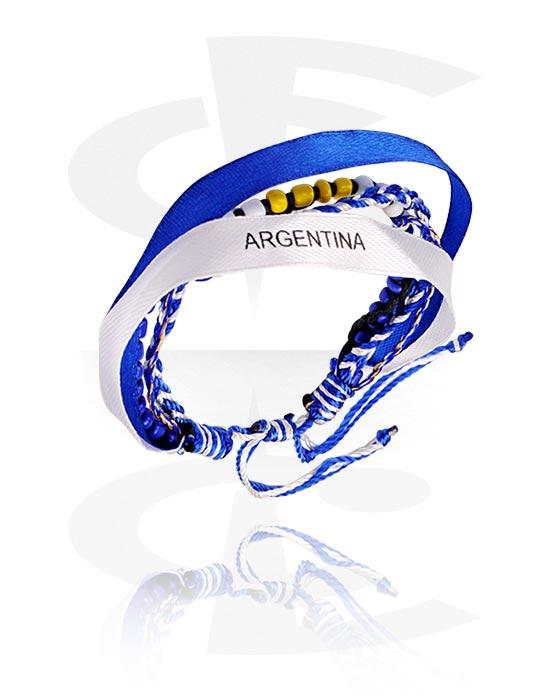 """Bransolety, Bracelet """"Argentina"""", Nylon"""