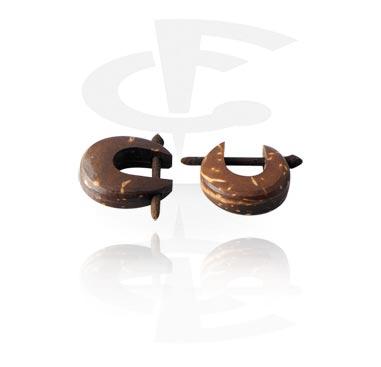 Ohrringe, Ohrringe, Kokosnuss-Schale