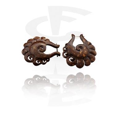 Earrings, Studs & Shields, Earrings, Coconut Shell