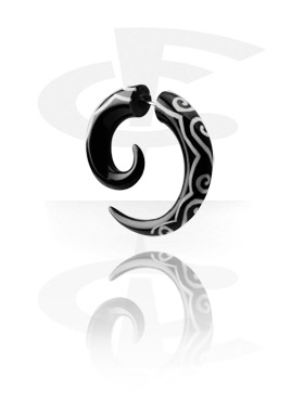 Fake Piercings, Inlaid Spiral Fake Piercing (Swirls), Organic Materials