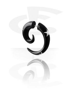 Lažni piercing nakit, Inlaid Spiral Fake Piercing (3 Star), Organic Materials