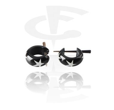 Kolczyki, Earrings, Horn