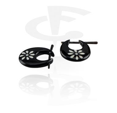 Horn Boucles d'oreilles (vendu par paire)