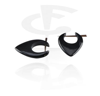 Bone en Horn oorbellen (Sold by pair)