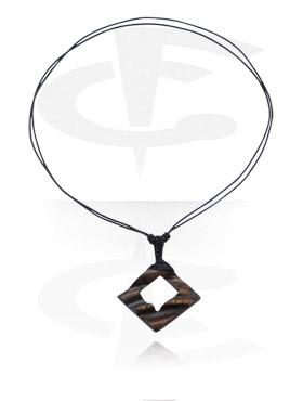 Pendentif avec fil en cuir
