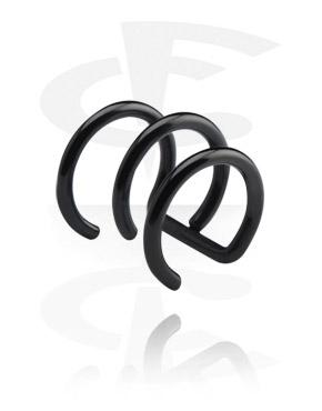 Zwarte earcuff