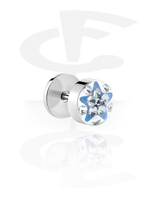 Lažni piercing nakit, Lažni čep, Surgical Steel 316L