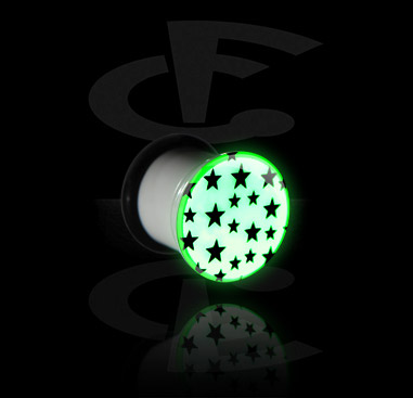 """Glow in the Dark"" Single Flared Plug"