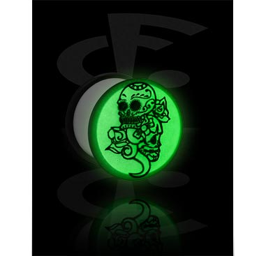 Tunnels & Plugs, Glow-in-the-dark Plug, Acrylic