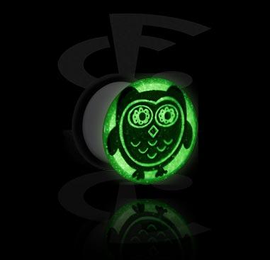 "Tunely & plugy, ""Glow in the Dark"" Plug, Acrylic"