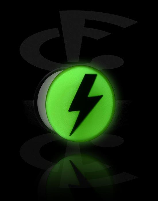 """Tunnel & Plugs, """"Glow in the Dark""""-Single Flared Plug, Acryl"""