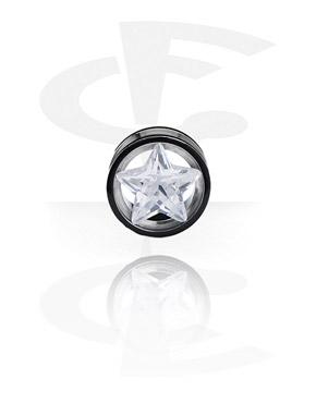 Flesh Tunnel com estrela de cristal