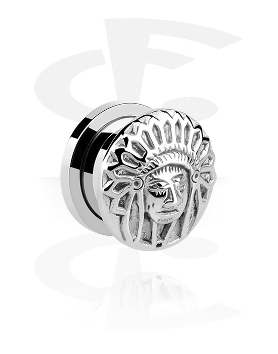 Tunnels & Plugs, Tunnel with 3D Motive, Surgical Steel 316L