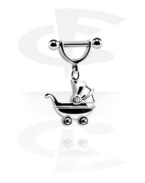 Аксессуар для пирсинга сосков с подвеской