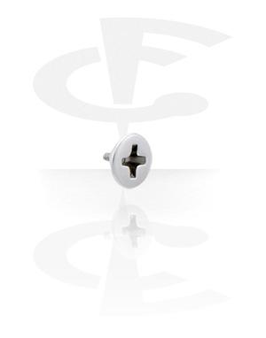 Pallot ja koristeet, Attachment for 1.6mm Internally Threaded Pins, Surgical Steel 316L