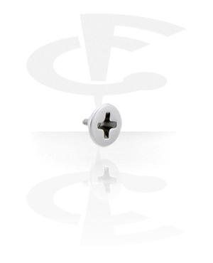 Einzelteile & Zubehör, Aufsatz für 1,6 mm Stäbe mit Innengewinde, Chirurgenstahl 316L