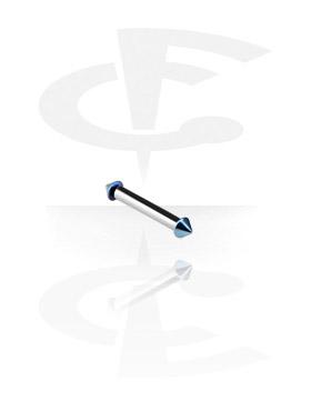 Internally Threaded Micro Barbell avec Anodised Cones