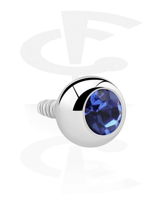 Kuličky, kolíčky a další, Jeweled Ball for 1.2 mm Internally Threaded Pins, Chirurgická ocel 316L